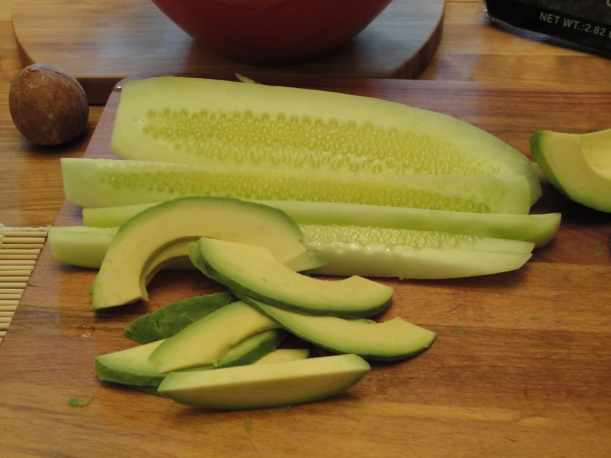 Cucumber and Avocado