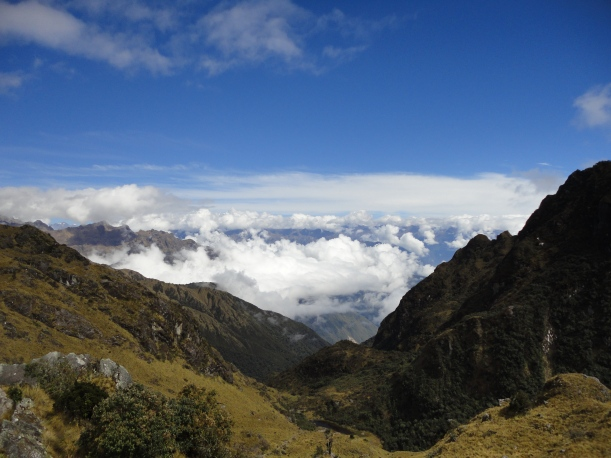 Sitting above the Clouds, Inca Trail, Peru