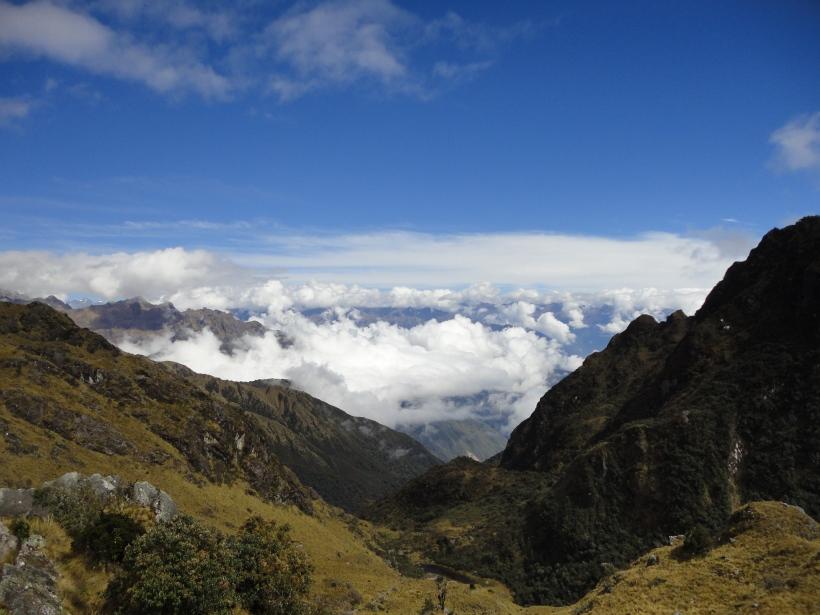 Sitting above the Clouds, Inca Trail, Peru