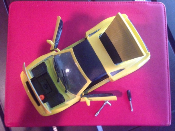 Opened Toy Car
